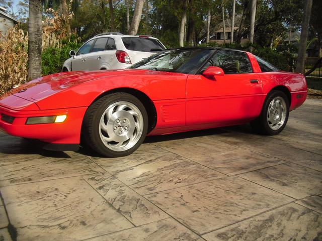 1996 Red Corvette